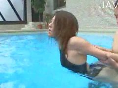 Japanese fucked poolside