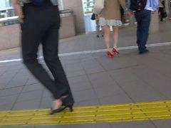 Sexy Legs Walk 019