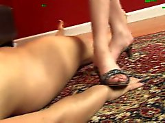 ClairesSlaves.com - Lesbian foot slave