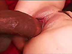 Big Black Cock On the Red Couch