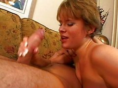 Claire Robbins swallowing European cum