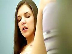 brunet masturbation before camera