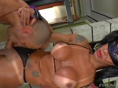 Sexy shemale Nathany Gomes fuck guy with her huge cock