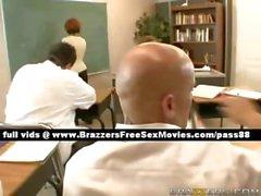 Innocent redhead schoolgirl in her class
