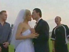 Russian wedding, Bride fucks all male Guests