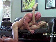 PornStar Booty Calls !! Райли Эванс Booty Call с Джонни Синс