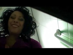 Danica Collins (Donna Ambrose) In Public Toilet