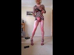 Lange Beine und kurzer Rock