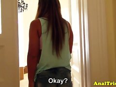 Homemade anal action with european gf