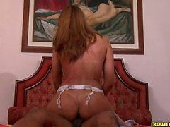 The sexy Brazilian babe Aliine riding Loupans' giant cock!