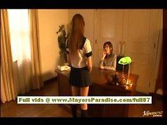 Rio Hamasaki and Kirara Asuka asian fondle each others big tits