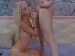 Skinny Blonde Chick Gets a Hot Creampie