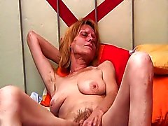 Horny grandma fucks after a long wait