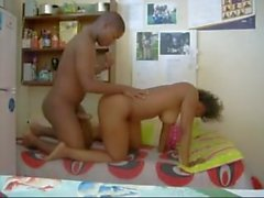 Zambian UNZA student being fucked in her shared room, zambian whore