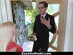 ExxxtraSmall - Tiny blondie gets fucked by salesman