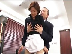 Naughty Japanese teacher with a perky ass gets her pussy drilled hard