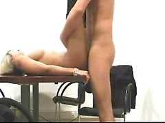 Blonde having sex in the office