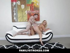 FamilyStrokes - Teaching Her Stepson To Dance And Fuck