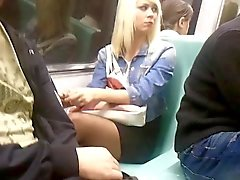 Turkish Nice Legs - Taksim Subway