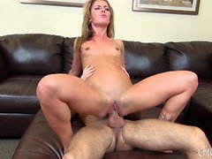 Sexy Sheena Shaw watches on live cam while she sucks and fucks