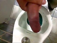Guys wanking in Brazilian public toillet
