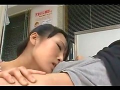 Hot Asian Girl Giving Blowjob One Her Knees For The Doctor Cum To Mouth In The Surgery