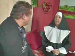 German MILF Nun get fucked by the Pastor