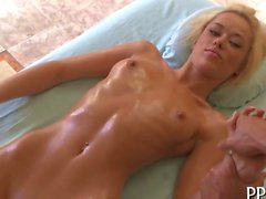 Steamy hot oil massage