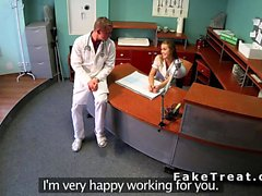 Nurse and doctor fucking at reception