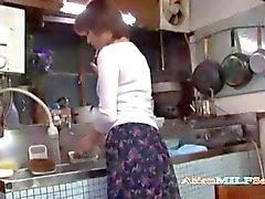 Milf Masturbating Fingering Herself In The Kitchen