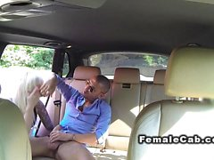 Italian guy bangs huge tits cab driver in public place