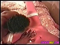 Cuckold MILF vintage archives BBC bull Sissy cleans up after