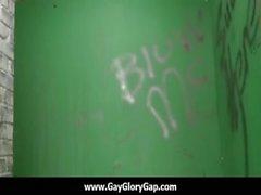 Homosexuell Hardcore- Glory Hole Geschlechts Porno und bösen Homosexuell die handjobs 27.