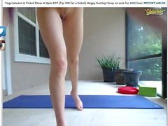 Skinny whore on chaterbate does some yoga