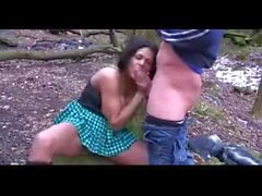 Busty british babe outdoor