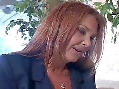 Older Mommy Anastasia Fucks Son's Friend On Sofa