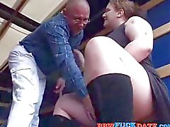 BBW Teen Pleasuring Old Man