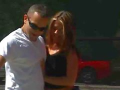 Cutie blows and shaggs after tennis