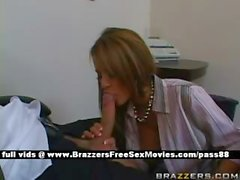 Mature redhead slut at work gets a blowjob