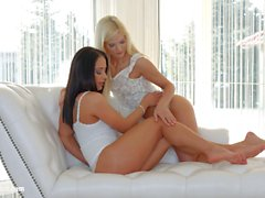 Light kisses by Sapphic Erotica Candee Licious and Nomi Melone lesbians