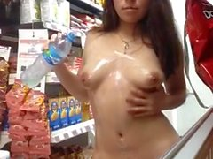 Busted masturbating in store nude