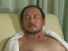 Mature Asian guy all alone at home