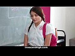 InnocentHigh - School Girl presionados a Gaza y la cogida del profesor