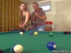 Renato Tony Madison and Linda get nasty by billiard pool
