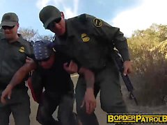 Pretty latina Josie Jaeger rides on an officers hard cock