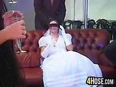 New Bride Durch mehrfache Schwänzen gefickt
