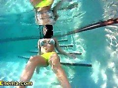 Bikini babe squirts ass milk