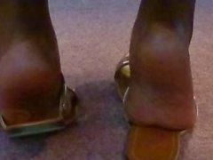 Candid Friend's Feet in Church
