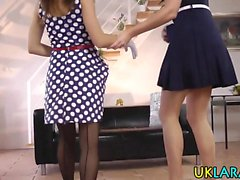 Petite in heels fingered