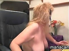 Mature Whore With A Thick Black Dildo